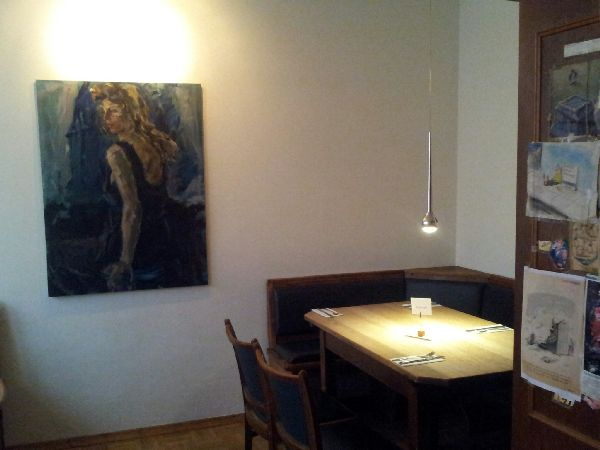 Bild von unserer Sitzecke beim SchnitzelS in der Weinstube Fröhlich